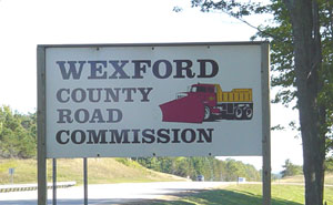 PIcture of Wexford County Road COmmission Sign
